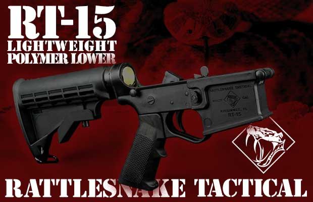 Rattlesnake tactical RT-15 Lightweight Polymer Complete Lower