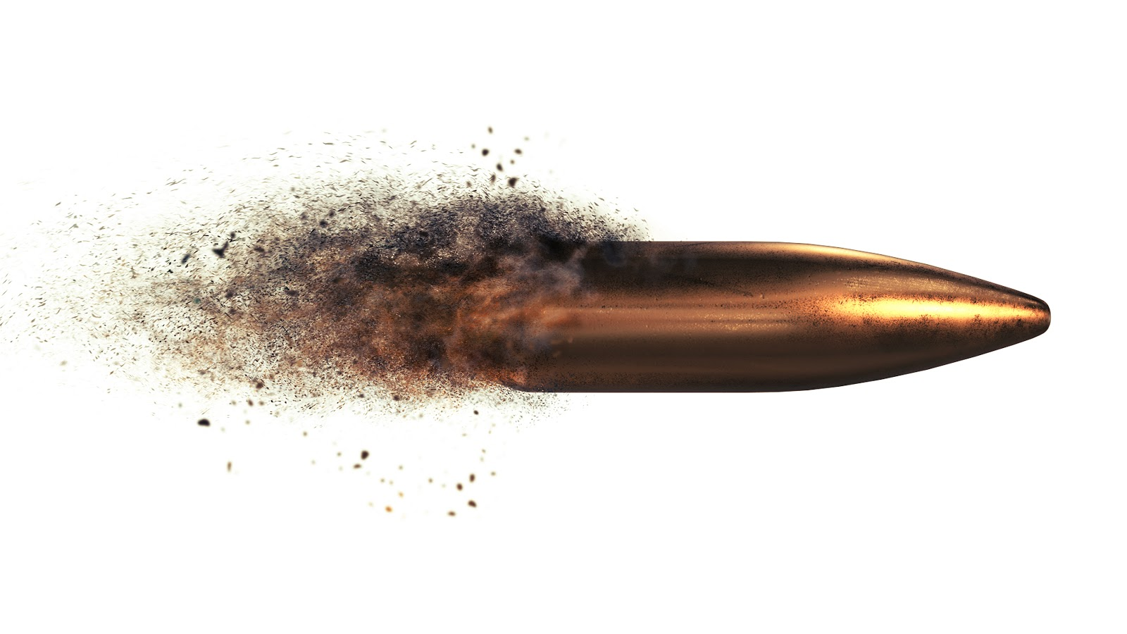 bullet projectile after being fired recently