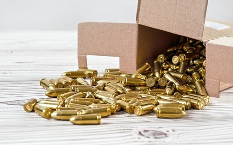 box of bullets spilling out